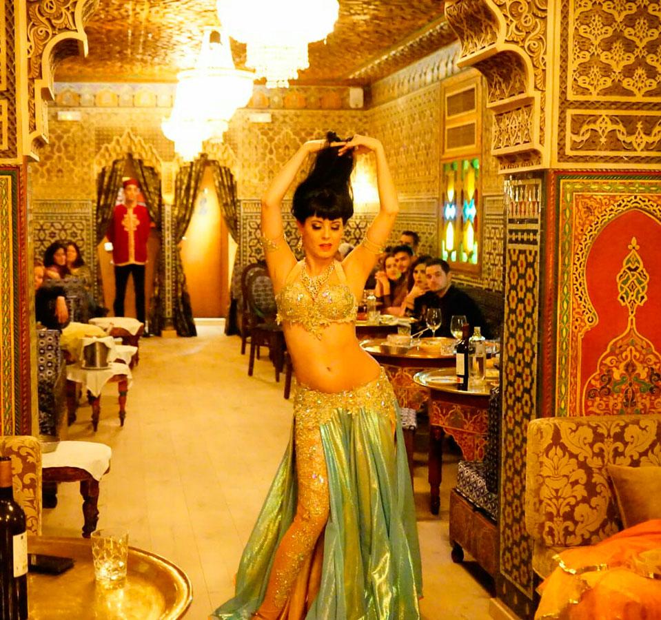 Cristina Gadea en el Restaurante Al Mounia