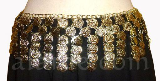 Cinturón-Básico-de-Monedas-Modelo-14.-Dorado-Monedas-en-tiras