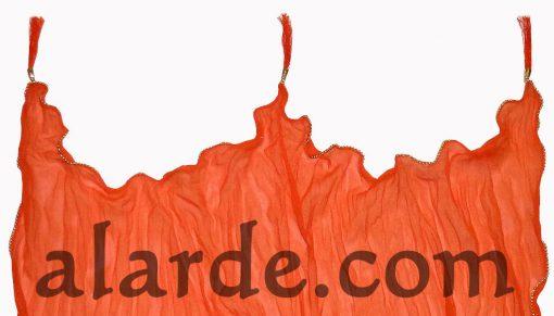 Dupatta-de-gasa-con-ribete-y-borlas-Naranja-PORTADA-4