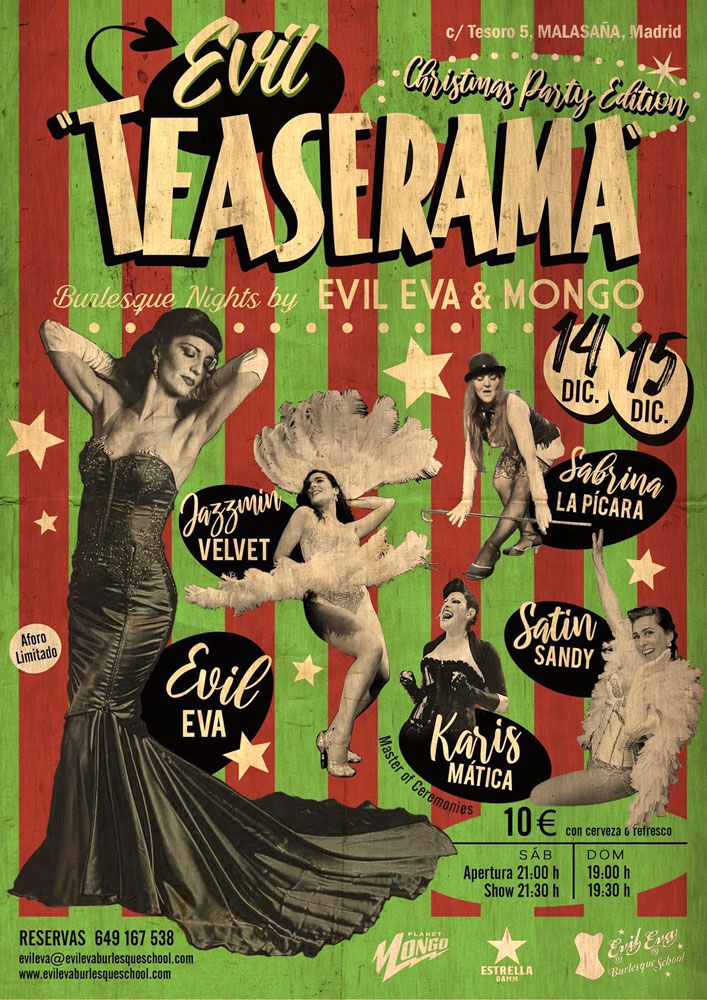 Evil Teaserama Christmas Burlesque Party