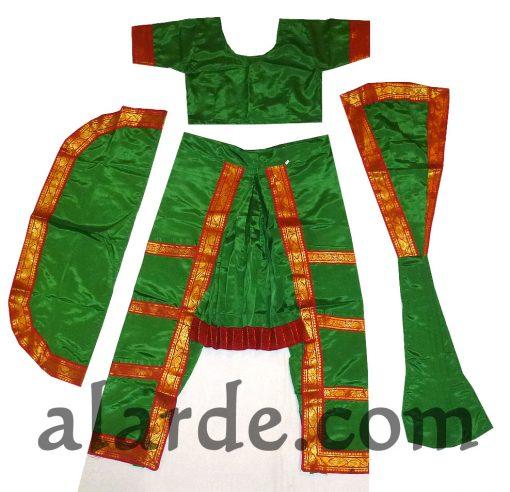 Traje-Bharatanatyam-Verde